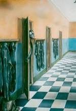 Wall painting of a school corridor (17 K)